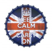 Keep Calm And Carry On, 35 cm