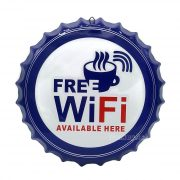 Free WiFi Available Here, 35 cm