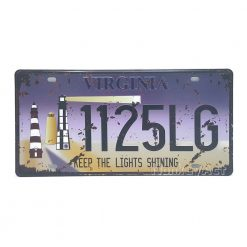 ป้ายสังกะสี Virginia 1125LG, Keep The Lights Shining